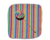 Baby Washcloths Striped - Multi Color 10 Pack