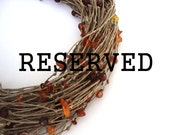 RESERVED - Amber brown beaded necklace, linen multistrand necklace, eco style, summer fashion, indie necklace