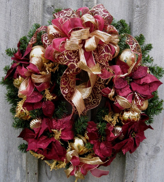 Christmas Wreath Holiday Wreath Elegant D Cor Designer