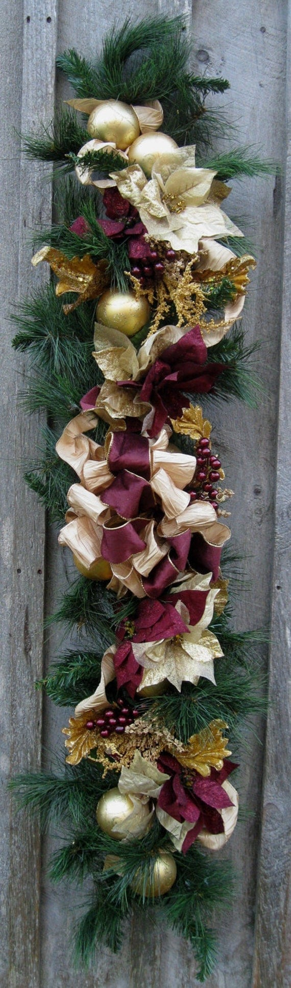 Christmas garland holiday swag elegant d cor by for Christmas swags and garlands to make