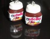 Nutella earrings - I love chocolate