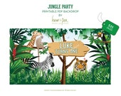 Jungle Party Backdrop
