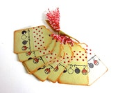 Christmas Ornaments Tag - Holiday Gift Tags -  8 Tags with twine - Autumn Sale