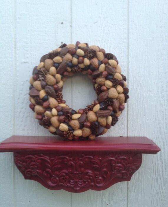 Fall Wreath- Thanksgiving- Christmas- Straw Wreath-Nut Wreath-Holiday Wreath