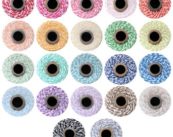 Bakers twine YOU CHOOSE COLOR -   240 yard spool - use for gift wrapping packaging  treats  weddings scrapbooking  tags favors