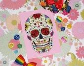 Sugar Skull Postcard - JadeBoylan