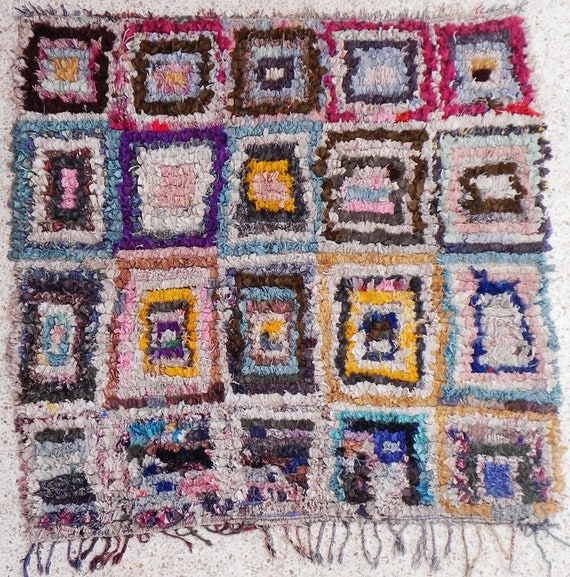 Rag Rug From Morocco Called Boucherouite Or