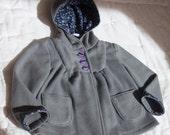 Gray, Arctic Fleece Girl's Coat, size 3 T