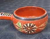 Vintage mexican pottery.  Vintage mexican touristware. vintage mexican redware.  Tlaquepaque pottery.