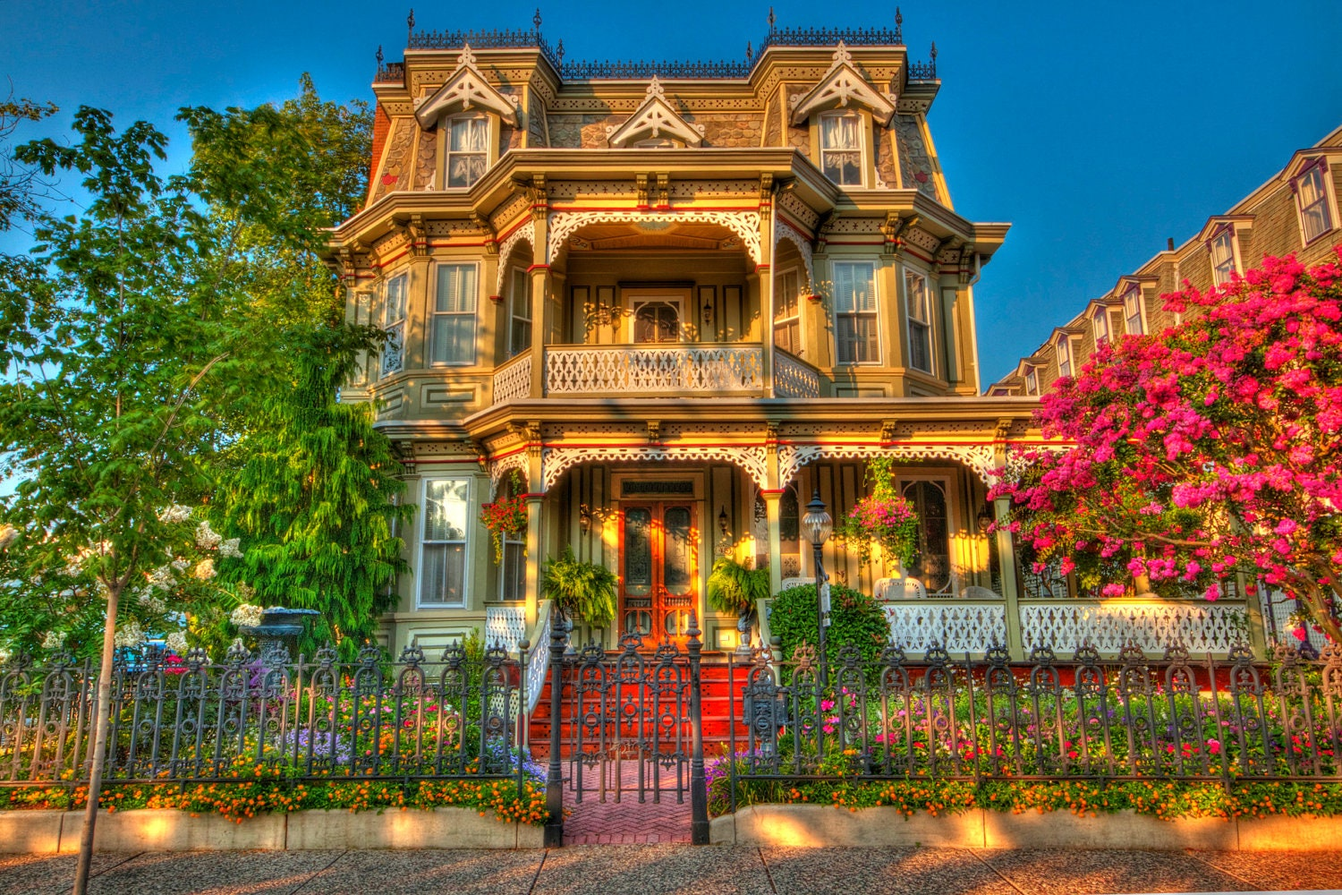 Victorian house cape may new jersey shore color photograph for New victorian homes