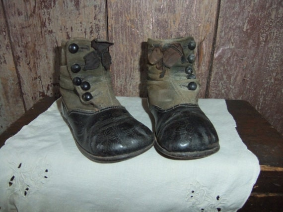 Anitque Children's Boots Victorian