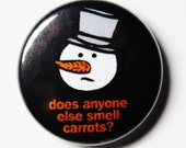 Snowman Button, 1 inch PIN or MAGNET
