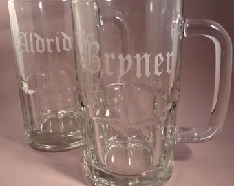 Personalized Beer Mugs - Set of Four