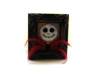 Halloween Skeleton - Skeleton Decor - Halloween Decor  - Felted Skeleton