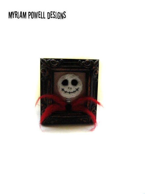 Halloween Skeleton - Skeleton Decor - Halloween Decor  - Felted Skeleton