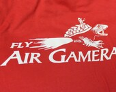 Fly Air Gamera t-shirt - Men/Women/Unixex - MST3K - Red - SALE!