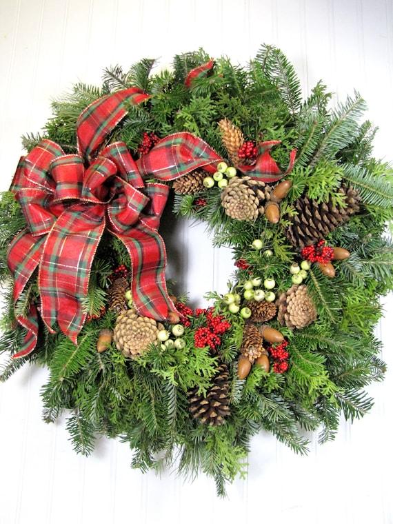 Fresh christmas wreath holiday