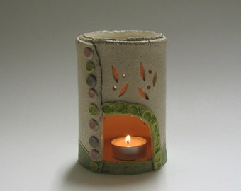 Aromatherapy Oil Burner and Candleholder with Tree