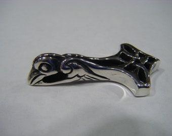 Thor's Hammer Odin Raven Viking Pendant