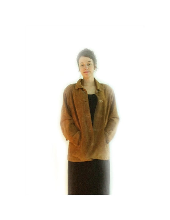 Reserved for Monika - Vintage Women's Suede Jacket, Riding or Dress-Up, 1980s - Petite Large