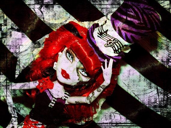 Monster High OOAK Custom Doll Hat Operetta