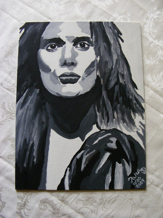 RESERVED - Sebastian Bach - Oil Painting - Skid Row - Slave To The Grind - Monkey Business - 18 and Life - Youth Gone Wild