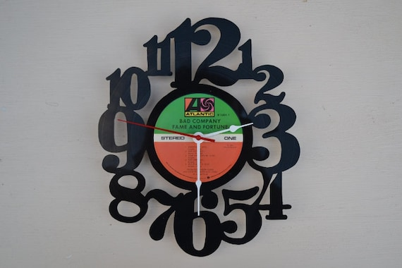 Vinyl Record Wall Clock (artist is Bad Company)