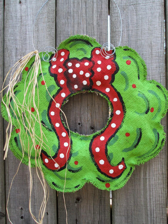 sale sale sale burlap christmas wreath with bow burlap door. Black Bedroom Furniture Sets. Home Design Ideas