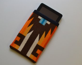 Kindle Sleeve Kindle Cover Kindle Case handmade of Pendleton Wool Native American fabric Kindle paperwhite voyage touch electronics cases