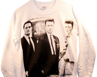 Twin Peaks: FBI Agents - David Lynch and David Bowie Unisex Sweatshirt sizes S-M-L-XL