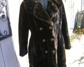 Stunning Faux MINK Fur coat fitted 1960's Good Quality  Small or Medium SIze 8
