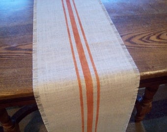 View Grain Sack Table Runners by NorthCountryComforts on Etsy