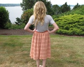 Item 358 Women's Cotton Eyelet Hand-dyed Peach Skirt size M