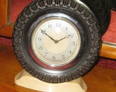 Vintage Smiths Good Year Tyre Clock, Mantel Clock, Made In England