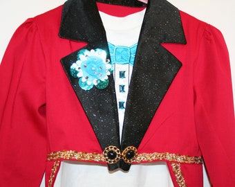 Child's Circus Ringmaster Jacket Costume -  Sizes 4 to 14 - Halloween, Birthday, Pageant, Carnival, Dance