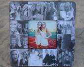 """Personalized Sister Gift, Bridesmaid Picture Frame, Custom Collage Maid of Honor Frame, Best Friends Gift, Parent Gift, 8"""" x 8"""" Frame"""