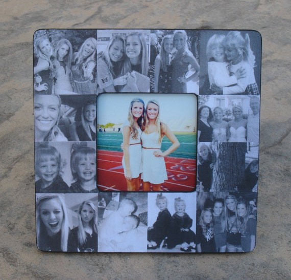personalized sister gift bridesmaid collage picture frame custom maid of honor frame best