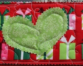 Unique Christmas Card -  Quilted Postcard
