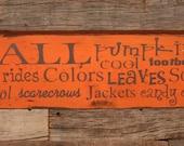 Fall - Subway Sign - Large Wood Sign