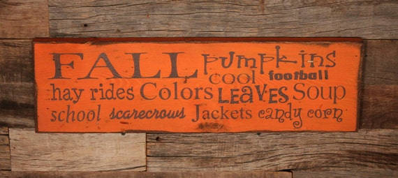 Fall Subway Sign Large Wood Sign