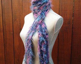 PRESEASON SALE - Hand Knit Cotton Candy Scarf
