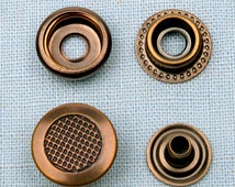 20 sets metal snap fasteners buttons 15 mm for clothing, diary, leathercraft etc -waffle pattern