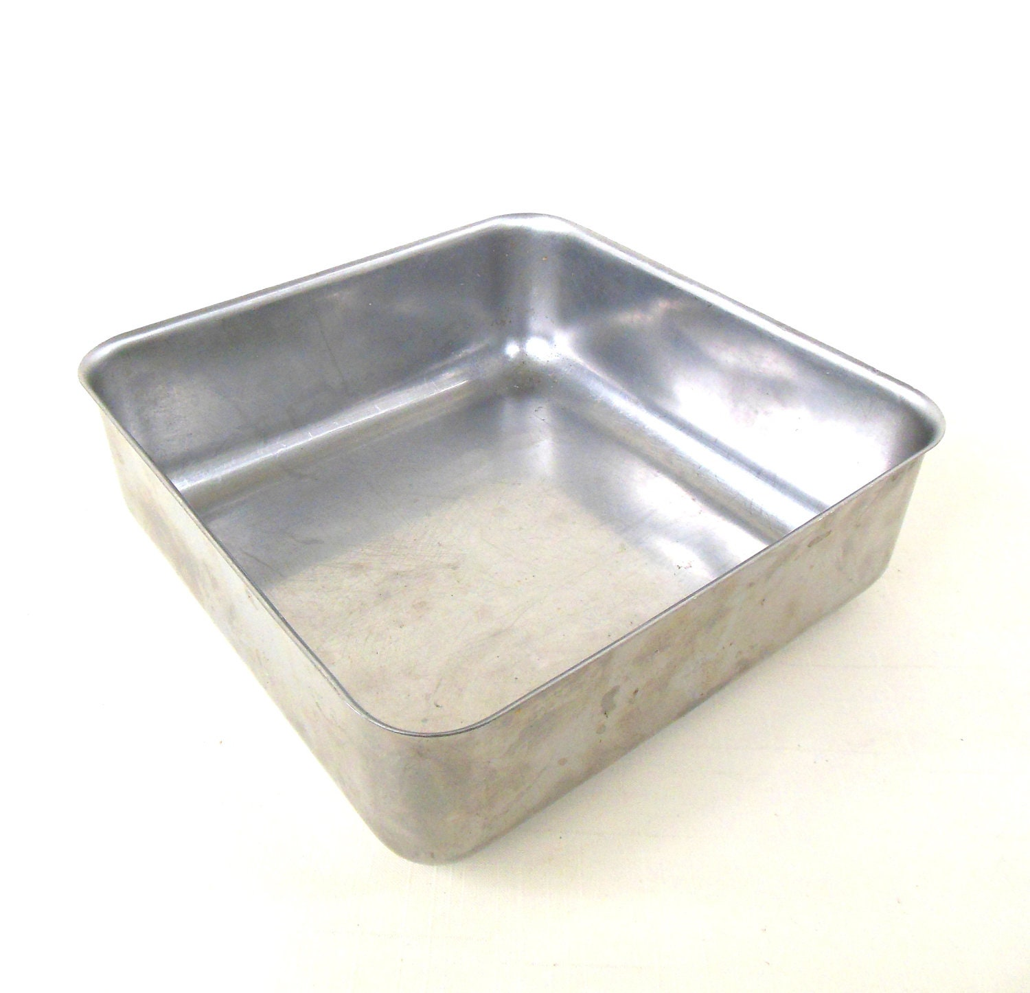 Stainless Steel Cake Pan Square 7.5 x 2.5 possibly