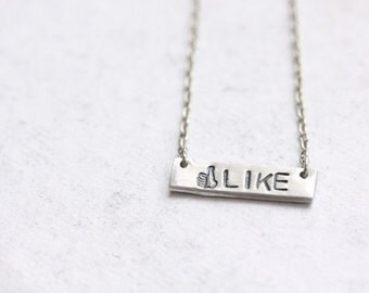 "Facebook Inspired ""Like"" Necklace"