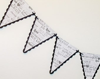 Wedding Words bunting winter love banner photo prop garland decoration pennants