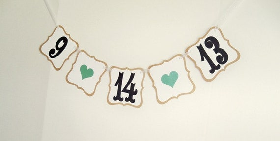 SAVE THE DATE banner/ custom wedding date garland/ photo prop/ engagement photos/ custom colors