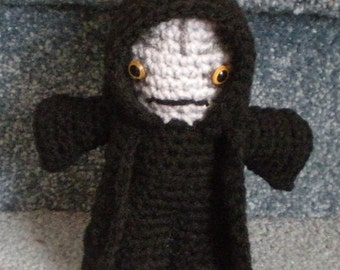 "Made to order, Hand crocheted Star Wars Emperor Palpatine Amigurumi Doll 6""doll"