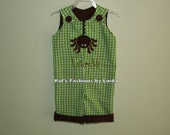 Personalized Lime Green  Halloween Spider  Longalls