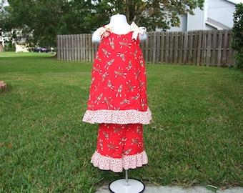 Aline Dress/ Pant Set with Sock Monkey Fabric