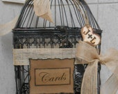 Bird Cage Wedding Card Holder / Rustic Wedding Birdcage Cardholder  / Card Box / Wedding Cardholder / Wedding Decoration / Birdcage